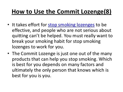 commit lozenges to quit smoking picture 2