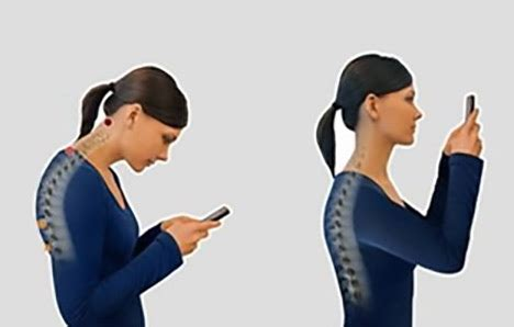 prevention of neck shoulder pain using phone picture 6