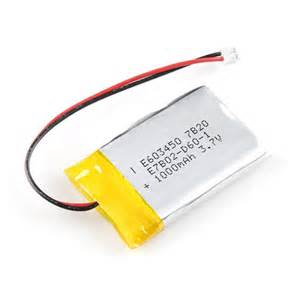 lithium ion battery 3.7v 1000mah product standart no.:gb/t18287-2000 picture 3