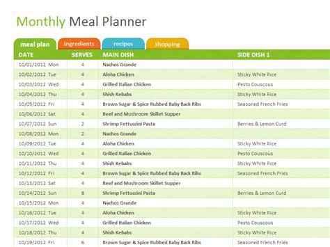 free weight loss shopping list picture 7