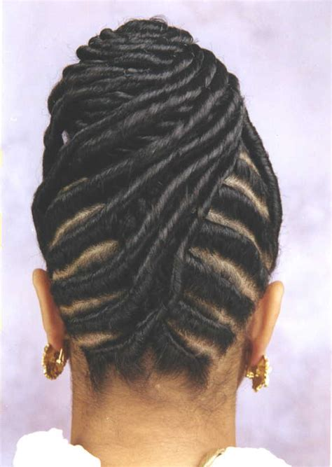 pictures of black hairstyles of flat twists picture 3