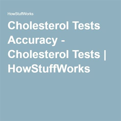 Cholesterol testing accuracy picture 1