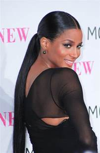 black hair ponytails picture 1