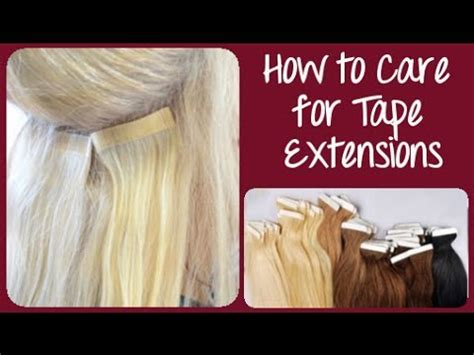caring for long hair extensions picture 10