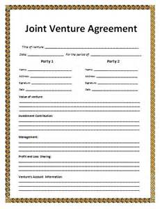free joint venture contract picture 5