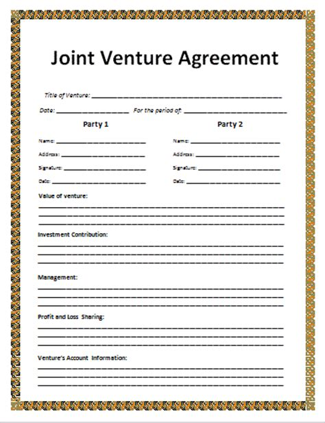 joint venture agreements picture 3