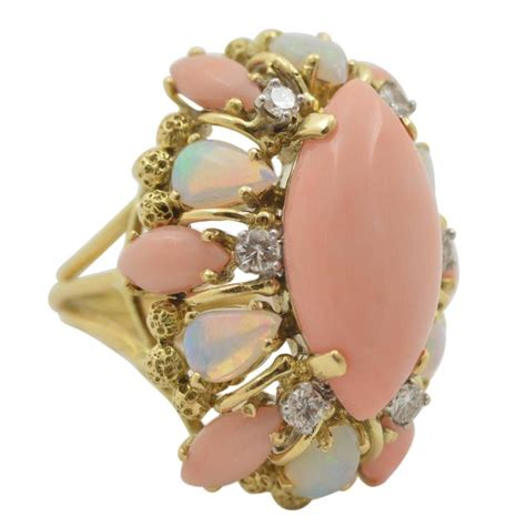 angel skin coral gold ring picture 11