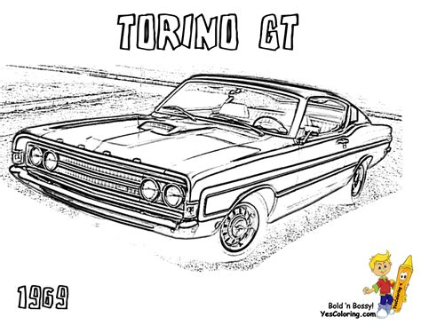 free printable muscle car art picture 15