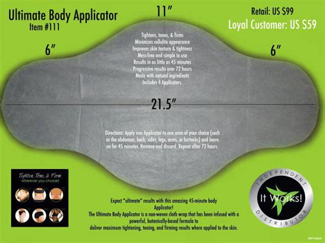 ultimate body applicator lipo wrap, slimming , contouring, picture 12