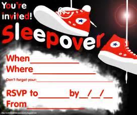free printable sleepover party invitation picture 1