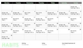 weight loss workout schedule picture 6