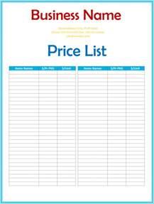 price list picture 5