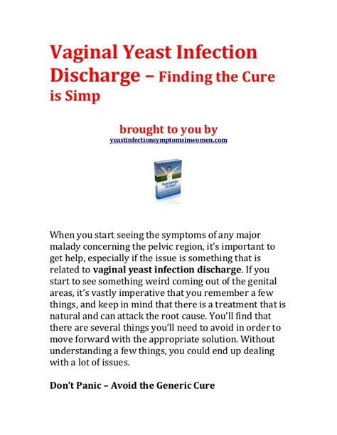 vaginal yeast infection discharge picture 15