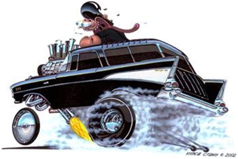 high octane muscle car drawings picture 2
