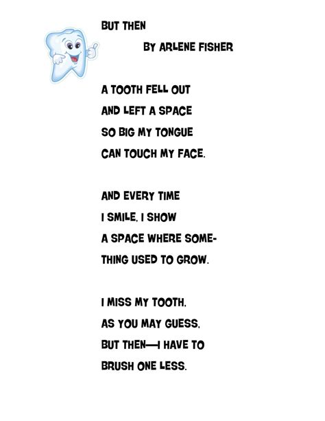 rhymes for healthy teeth picture 6