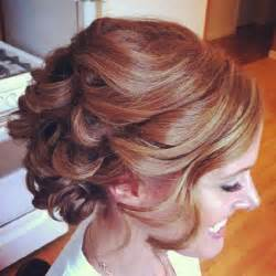 curly frizzie hair updo for wedding picture 6