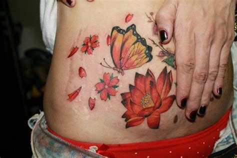 stomach tattoo to cover stretch mark picture 3