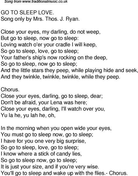 go to sleep lullabies lyrics picture 1