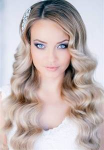 crimped hair down prom styles picture 3