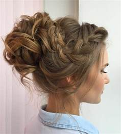 braids and curly buns hair style picture 9