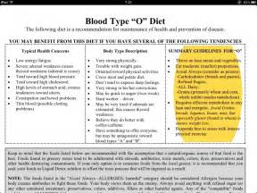 blood type o diet picture 1