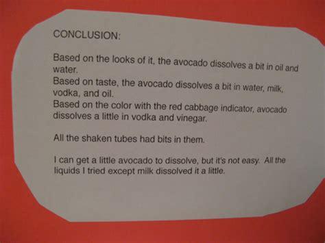 conclusion h liquids science fair picture 1