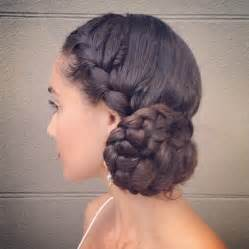 braids and curly buns hair style picture 3