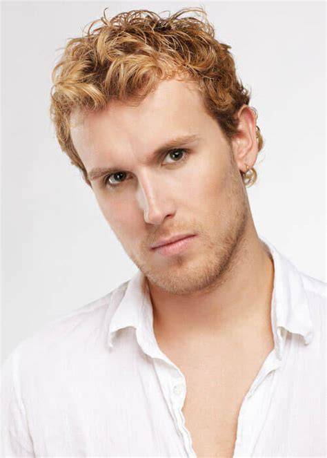 man with blonde curly hair picture 2