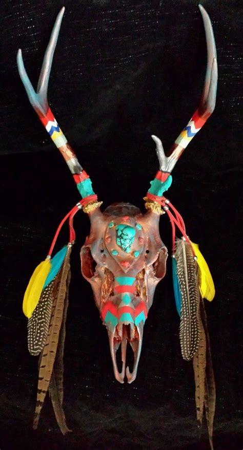 native american deer skull mounts picture 13