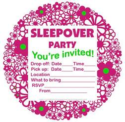 free printable sleepover party invitation picture 9