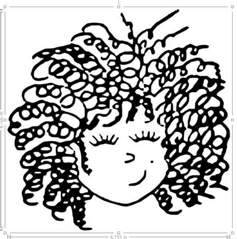 curly hair clipart picture 18