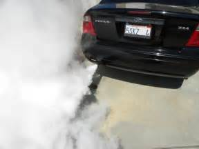 dangerous white smoke from exhaust picture 19