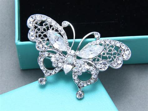 crystal flower hair clips picture 19