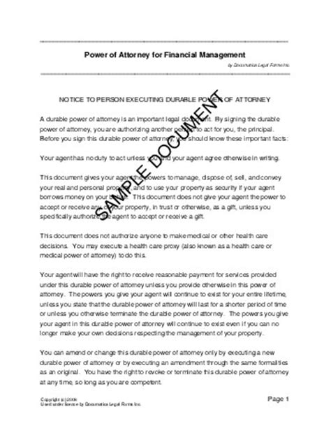 joint power of attorney form arizona picture 4