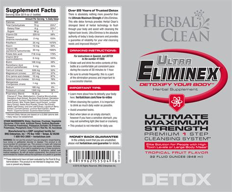 herbal clean ultra eliminex directions picture 1