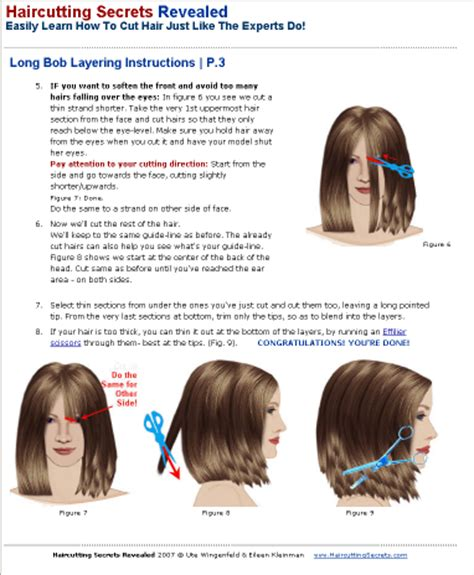 cut hair instructions picture 2