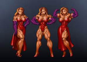 cartoon muscles women picture 6