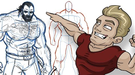 drawing of beach muscle man picture 5