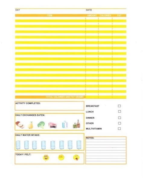 free printable diet journals picture 11