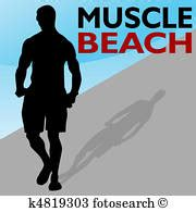 carnival beach muscle man drawings picture 19