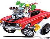 high octane muscle car drawings picture 19