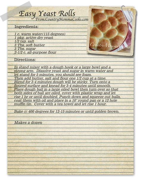 easy yeast roll recipe picture 1