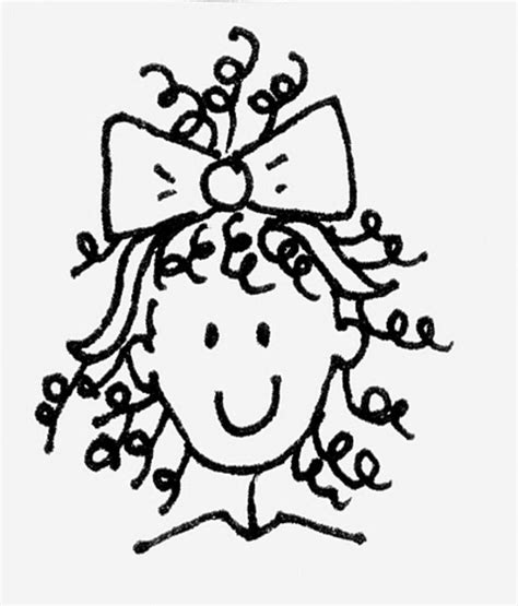 curly hair clipart picture 5