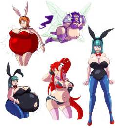 giant women in huge expansion in animation picture 8