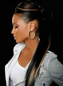 black hair ponytails picture 3