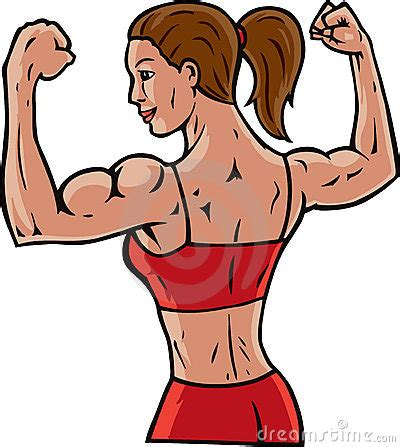 cartoon muscles women picture 15