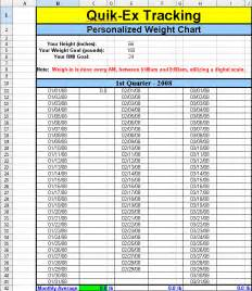 weight loss measurement chart picture 9