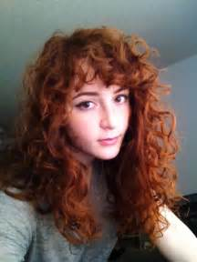 curly hair with side bangs picture 7