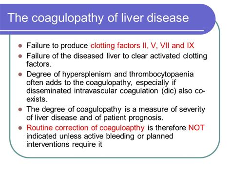 clotting factors in chronic liver disease picture 3