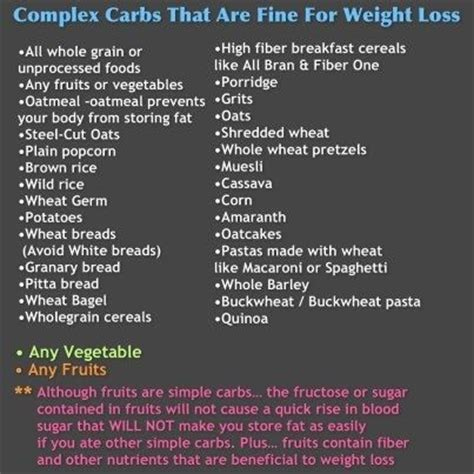 complex carbs list picture 6